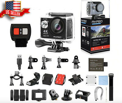 Go As Pro 4K Sports Action Live Camera Akaso Ultra HD + Accessories Bundle