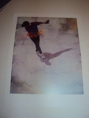 """Bart Forbes """" Practice Routine """" art print ice figure skater winter skating"""