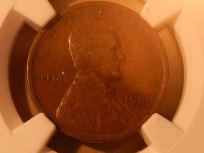 1909 S Lincoln Wheat Ear, Cent, Penny. NGC VF 25 BN