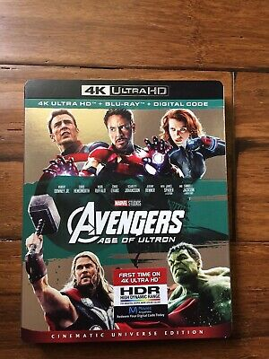 Avengers: Age of Ultra (4K UHD Blu-ray, 2-Disc Set, NO DIGITAL CODE)