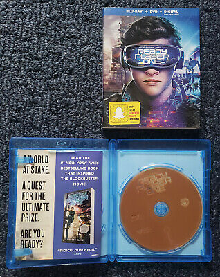 Ready Player One (Blu-ray ONLY) with slipcover- NO DVD OR CODE-Steven Spielberg