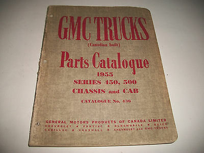 1955 Gmc Truck 450-500 Series Chassis & Cab Parts Catalog Canadian Built