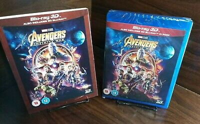 Avengers:Infinity War(3D + 2D Blu-ray,2 Discs,Region Free)Slipcover-NEW-Free S&H