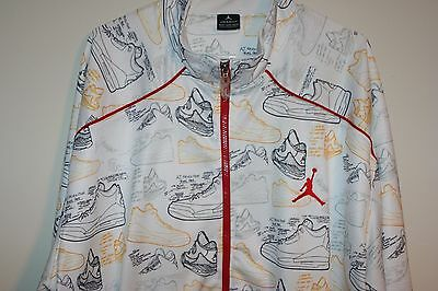 0167d697ce37 Nike Air Jordan 3 Revolution Track Jacket Size 4XL Multi Athletic  Basketball Hip