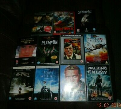 Dvd's - 11 War Films - Great Titles - Great Escape - Red Tails - Windtalkers