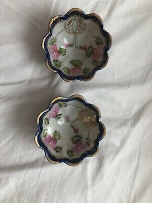 Pair of Antique Nippon Hand Painted Bowls