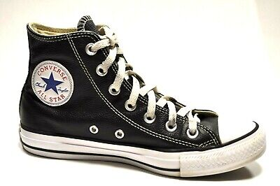 05872531a6b90e Converse Chuck Taylor All Star Hi Top Black White Leather 132170c Men 5  Women 7