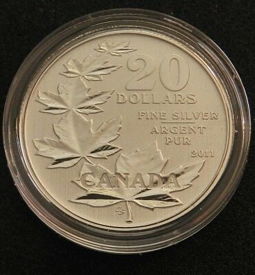 2011 Canadian $20 Commemorative Silver Maple Leaf - First Issue