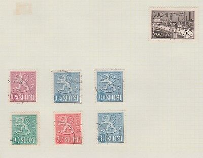 FINLAND COLLECTION Early Issues C of A Suomi, USED As Per Scan #