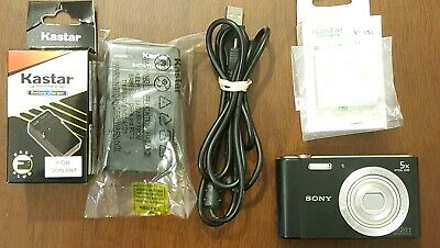 Sony Cyber-Shot DSC-W800 Black Digital Camera 20.1 MP, New