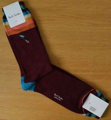 Paul Smith Men Sock Made In Italy Mainline Feather Navy