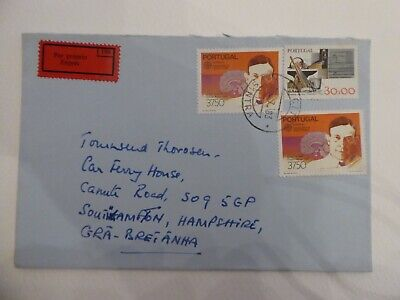 Portugal, Express Labeled Cover with Mixed Stamps Addressed to Southampton UK