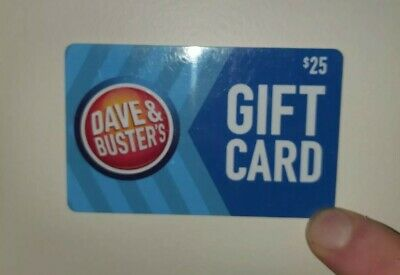 Dave And Buster's Gift Card 25 Dollars