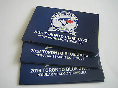 2016 Lot Of 3 Toronto Blue Jays 40Th Season Pocket Schedules