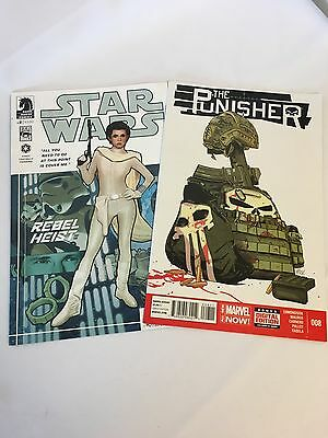 Star Wars Princess Leia Cover & The Punshisher Comic