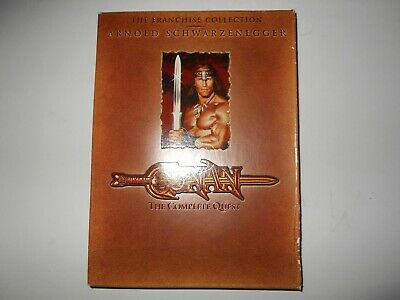 Conan The Barbarian The Complete Quest DVD Arnold Schwarzenegger Franchise Coll