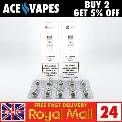 VAPTIO COSMO / TYRO Replacement Coils - 5 Packs - 0.7 Ohm / 1.6 Ohm