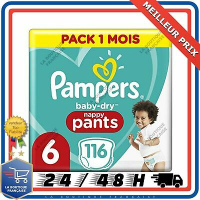 Pampers - Baby Dry Pants - Couches-culottes Taille 6 +15 kg - 116 Couches