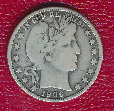 1906 Barber Silver Half Dollar **circulated - A Full Liberty Shows** Free Ship!