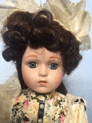 Collectable Lady Porcelain Doll on stand - Alexa 41cm High
