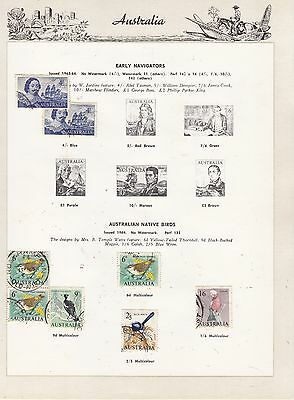 AUSTRALIA 1963-4  Coll. GOOD/FINE USED Stamps removed for post.