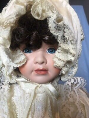 Collectable Lady Porcelain Doll on stand - Debra 45 cm High - Hillview Lane