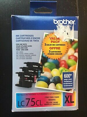 Brother LC75CL Genuine Ink Cartridges LC75C LC75M LC75Y in Box 2021 #8453