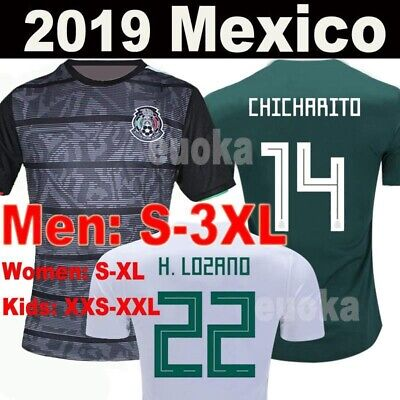 ac467d05f28 CHICHARITO #14 WOMEN'S Mexico Home 2016 Unbranded Lime Green Soccer ...