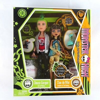 Monster High Deuce Gorgon & Cleo de Nile 2009 1st First Wave Edition Collector