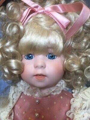 Collectable Lady Porcelain Doll on stand - Eliza 46 cm High