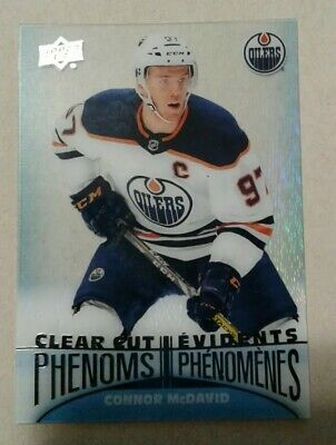 2018-19 18/19 Upper Deck Tim Hortons clear cut phenoms Connor McDavid