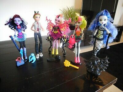 Monster High Dolls X 5 inc Ghouls alive Deuce & Freaky Fusion Lagoonafire