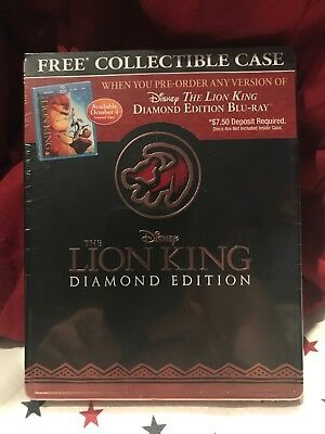 RARE Disney The Lion King - Diamond Edition Steelbook Collector case -  OOP New