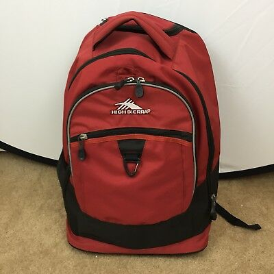 High Sierra Freewheel Brick Red 20-inch Wheeled Backpack with Telescoping Handle