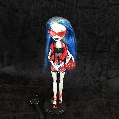 Monster High Gloom Beach Ghoulia Yelps Doll Outfit Shoes Purse Glasses Brush Lot
