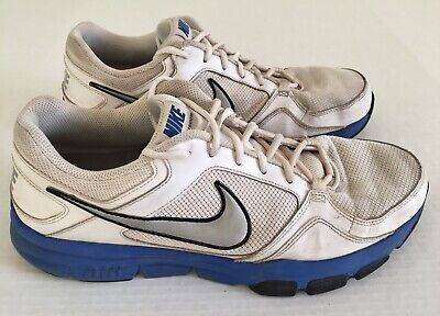 ea5b29ed6a10 NIKE Air Flex Trainer II White Blue Gray Gym Running Shoes Mens Sz 13  488004-