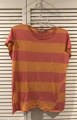 f9dc4e069 Ted Baker London Pink   Orange Striped Casual Short Sleeve T-Shirt Size 3
