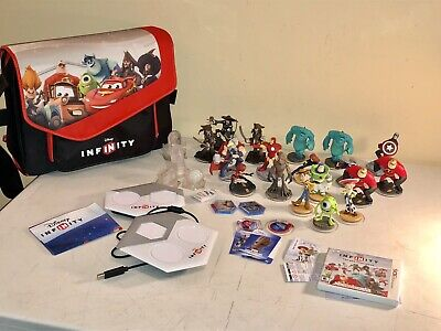 Disney Infinity Figures Lot Toy Story Monster IncrediBles Marvel Pirates Playset