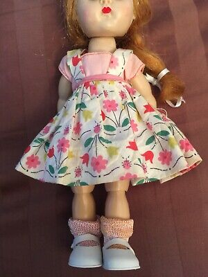 HTF Adorable Vintage 1950s Ginny Doll Vogue Tagged Cotton Floral Outfit