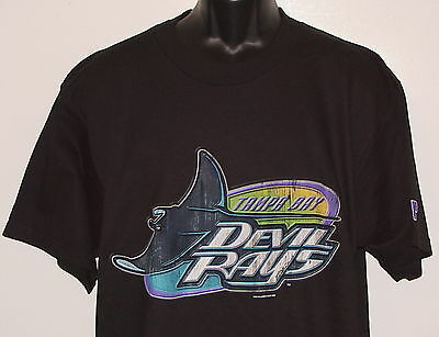 213e9f79 Vintage 1997 MLB Tampa Bay DEVIL RAYS T-Shirt PRO PLAYER NWT NEW Old Stock