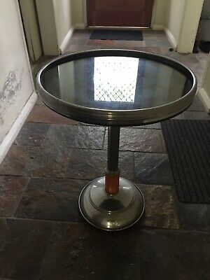 Art Deco Chrome Side Table