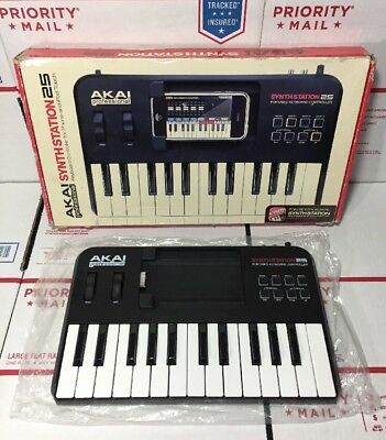 AKAI SYNTHSTATION 25 MIDI Keyboard PC controller VST synth