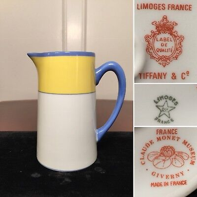 "Vintage Haviland Limoges TIFFANY & CO Claude Monet Museum 6"" Porcelain Pitcher"