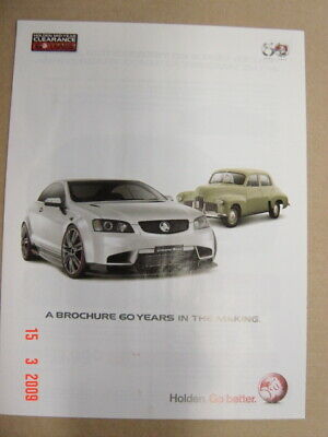 Holden 60Th Mid Year Ann Coupe 60 Booklet Brochure 2008 24413 V2 Fair Condition