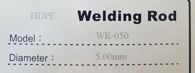 20 metres HDPE Plastic Welding Rod, 5mm round, black.