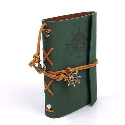 Vintage Classic Retro PULeather Journal Travel Notepad Notebook Blank Diary GA