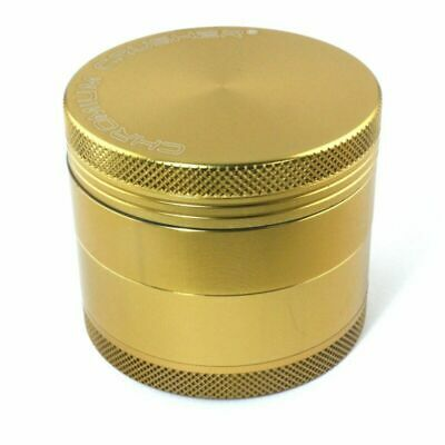 Spice Grinder 4Pieces Alloy Metal Chromium Crusher Gold Colour