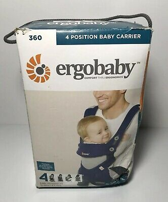 Ergobaby Four Position 360 Baby Carrier  French Blue Cool Air Fresh Ergonomics