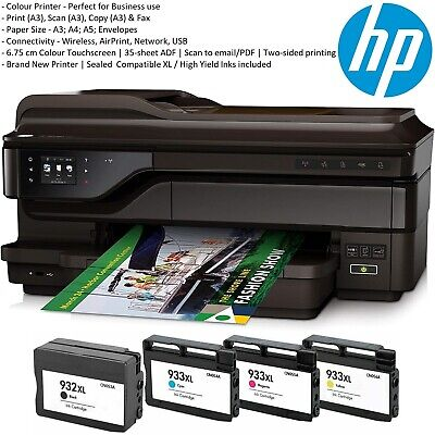 NEW HP Officejet 7612 Wide Format A3+ 4-in-1 WiFi Business Printer + NEW XL Inks