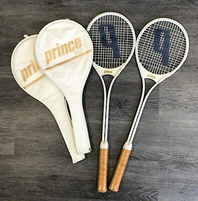 PRINCE PRO Squash Rackets Vintage1988 Set of 2 Unused In Original Cases